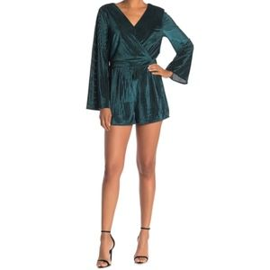 Cupcakes and Cashmere Caden Green Velvet Romper